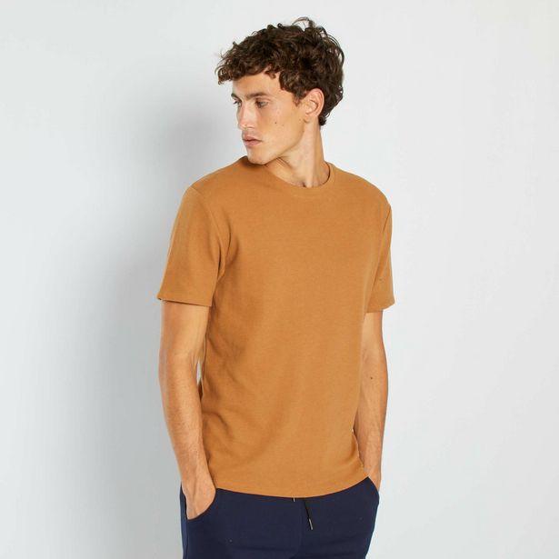 T-shirt maille texturée offre à 8€