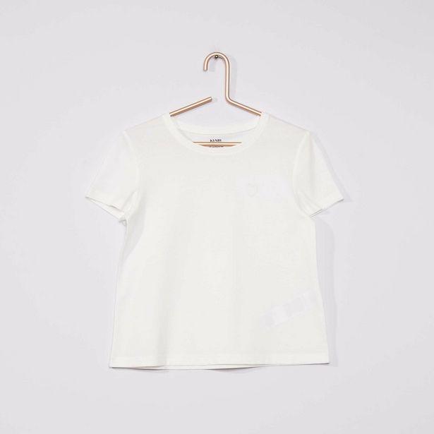 T-shirt en maille jersey uni offre à 2€