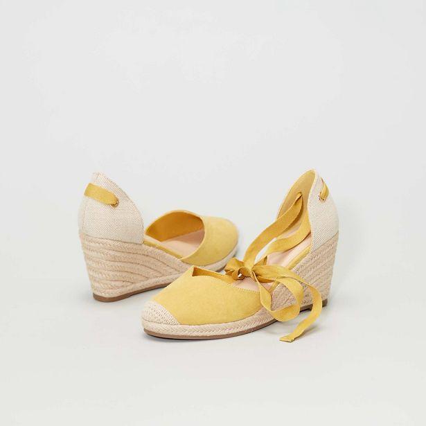 Sandales bi matière compensées offre à 9€