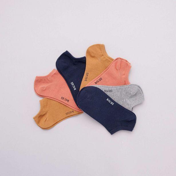 Lot de 7 paires de chaussettes invisibles offre à 2,8€
