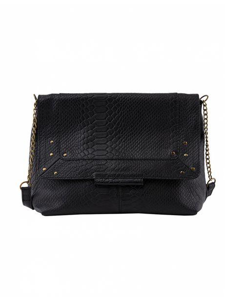 Pieces - Sac à Main Felizia Leather Large Cross Body Black offre à 89,9€