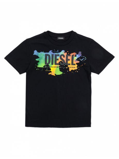 Diesel Kid - T Shirt Enfant Dosky Noir offre à 45€