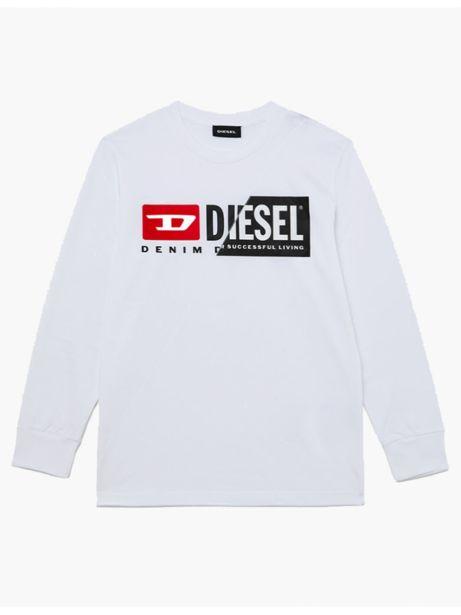 Sweat avec double logo Blanc TDiegocuty - Diesel KID offre à 31,5€