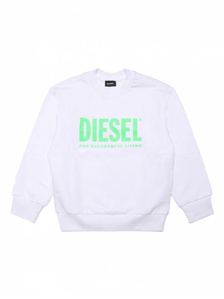 Diesel Kid - Sweat Shirt Enfant Crew Division Blanc offre à 59,9€