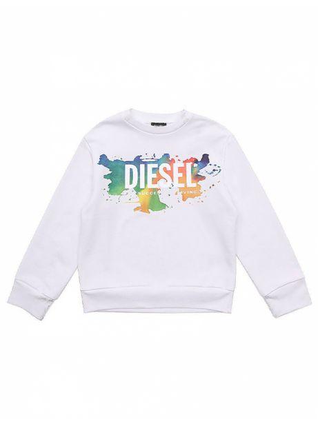 Diesel Kid - Sweat Shirt Enfant Crew Dosky Blanc offre à 79,9€