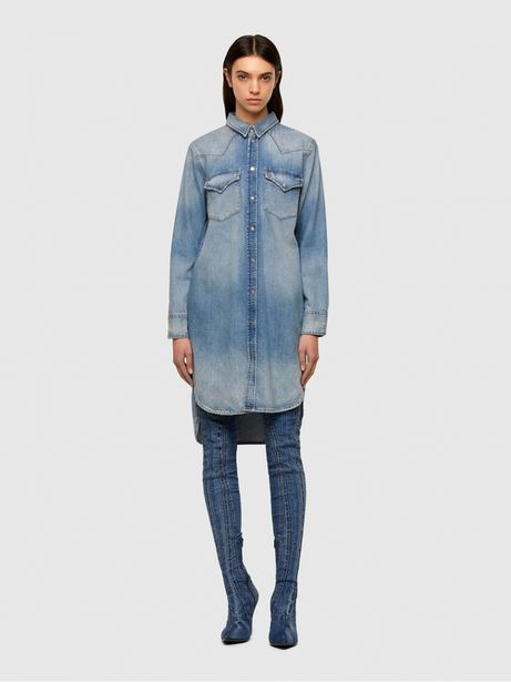 Diesel - Robe De-Blanche Jean 0PAUB offre à 195€