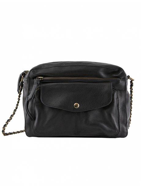 Pieces - Sac à Main Liv Leather Cross Body Large Black offre à 79,9€