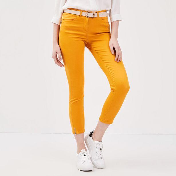 Pantalon 7/8 satin jaune or fe... offre à 19,99€