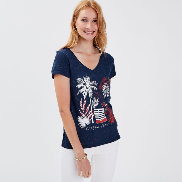 T-shirt manches courtes bleu m... offre à 20,99€