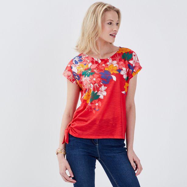 T-shirt manches courtes rouge ... offre à 17,99€