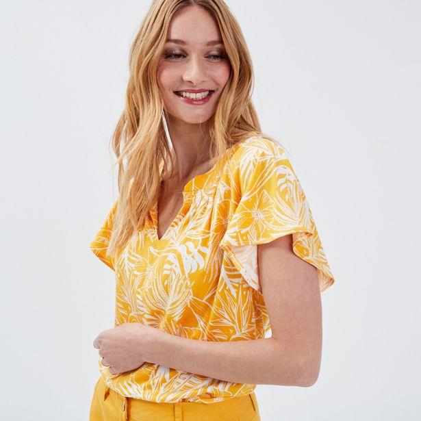 T-shirt manches courtes jaune ... offre à 14,99€