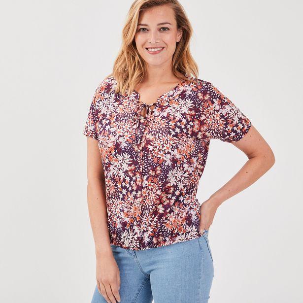 T-shirt manches courtes prune ... offre à 15,99€