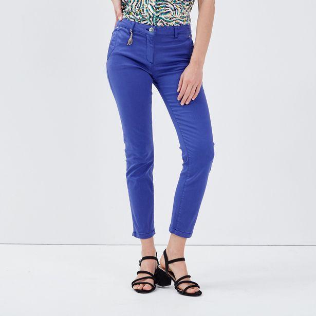 Pantalon chino ajusté bleu fem... offre à 29,99€