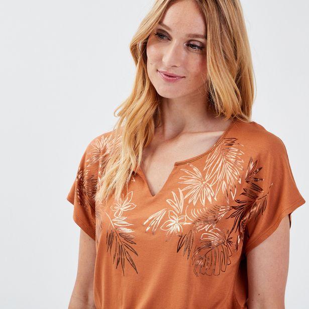 T-shirt manches courtes orange... offre à 14,99€