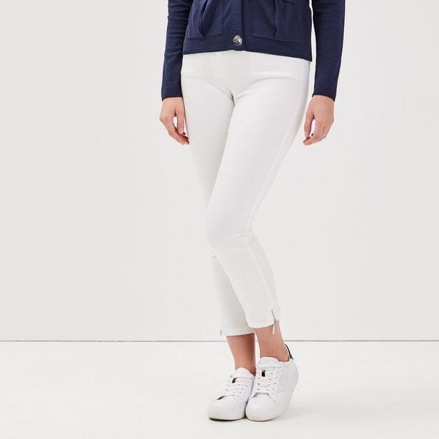 Pantalon 7/8 satin ecru femme offre à 34,99€