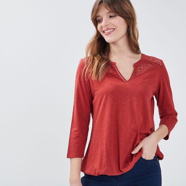 T-shirt manches 3/4 rouge fonc... offre à 11,99€