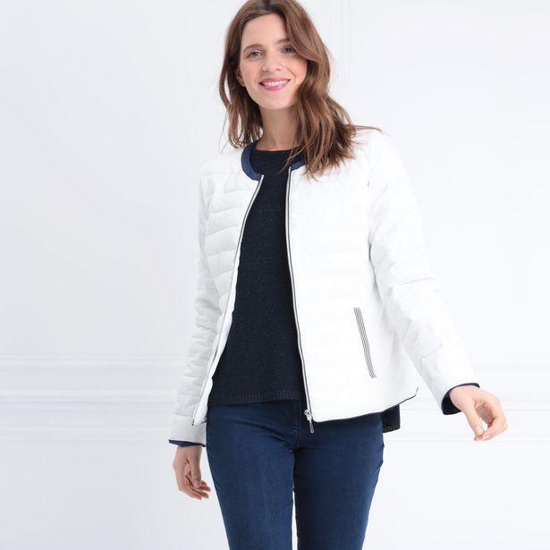 Doudoune droite zippée blanc f... offre à 27,99€