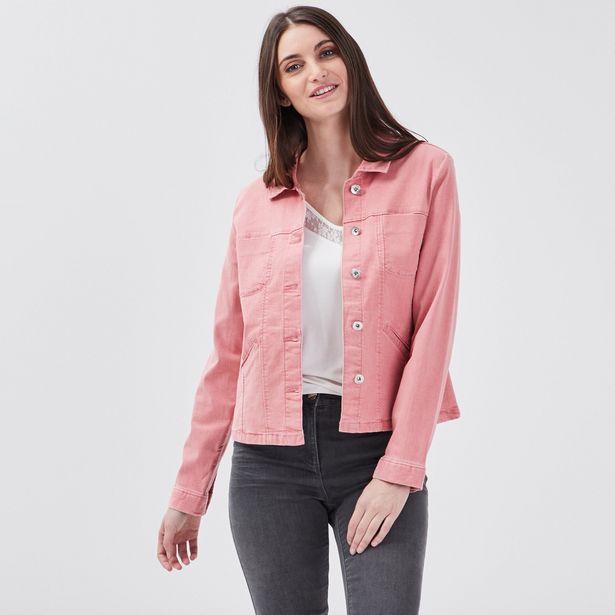 Veste droite en jean vieux ros... offre à 35,99€