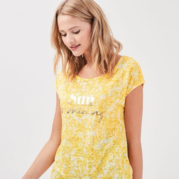 T-shirt manches courtes jaune ... offre à 13,99€