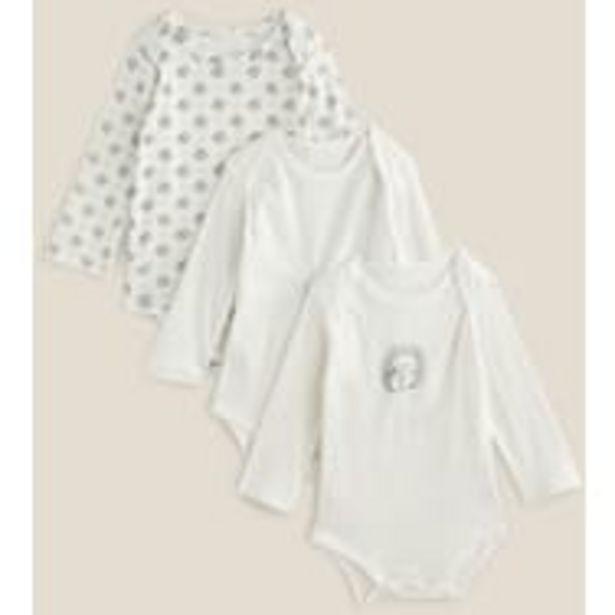 IN EXTENSO Lot de 3 bodies manches longues bébé garçon offre à 2,69€