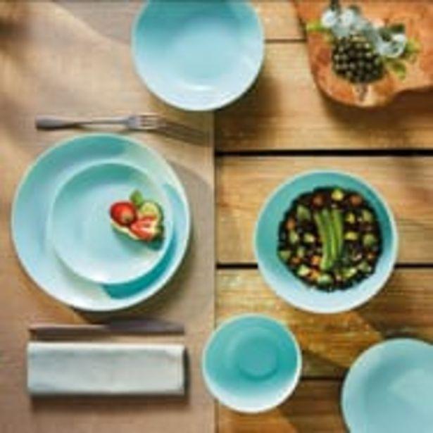 LUMINARC Service d'assiettes opale 18 pièces DIWALI Turquoise offre à 23,9€
