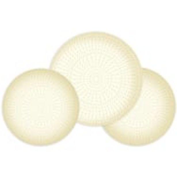 Service 18 pièces EMBOSSÉ THALES crème offre à 17,97€