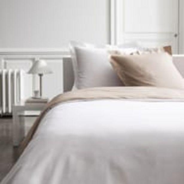 TODAY Parure  housse de couette bicolore percale pur coton 78 fils offre à 14,99€
