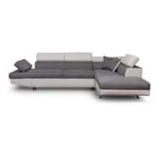 Canapé angle droit convertible 4 à 5 places bimatière microfibre/simili CHICAGO offre à 849€