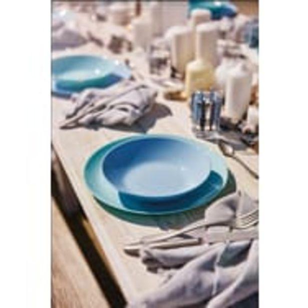 LUMINARC Service d'assiettes opale 18 pièces DIWALI Bleu offre à 19,99€