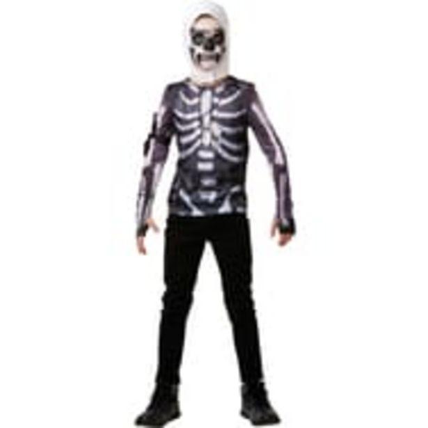 RUBIES Déguisement Top  + cagoule ado Taille 10/11 ans Fortnite Skull Trooper offre à 4,99€