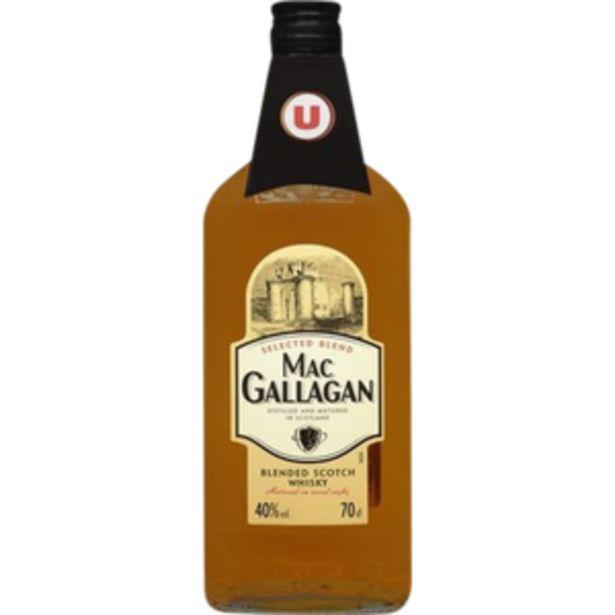 Blended Scotch Whisky Mac Gallagan U, bouteille de 70cl offre à 11,29€