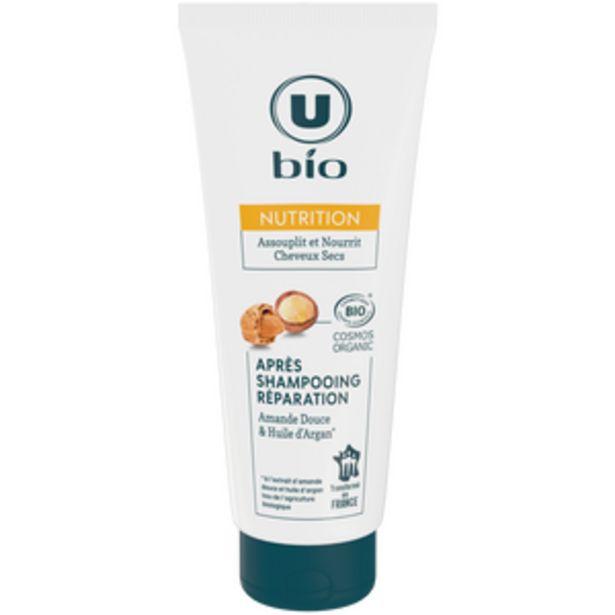 Après-Shampooing réparation cheveux secs amande huile argan U BIO tube200ml offre à 2,38€