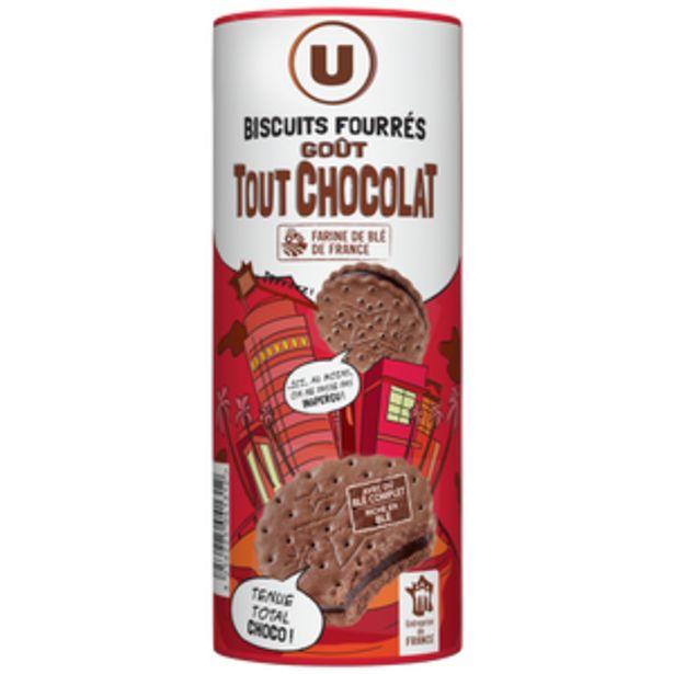 Fourrés ronds goût tout chocolat U, 300g offre à 0,61€
