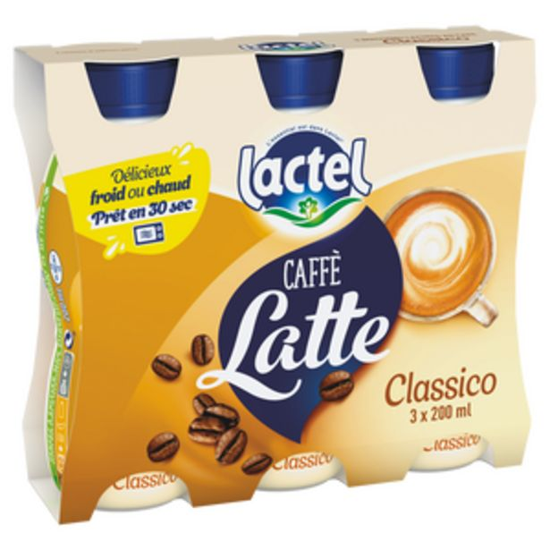 Boisson lactée sucrée au café UHT - LACTEL - Bouteille 3x200ml offre à 2,5€