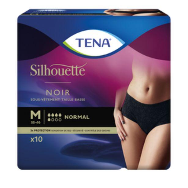 Sous-vêtements normal taille basse noir M TENA silhouette, x10 offre à 8,02€