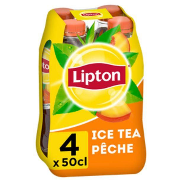 Boisson LIPTON ICE TEA Goût pêche - Pack Bouteilles 4x50cl offre à 3,36€