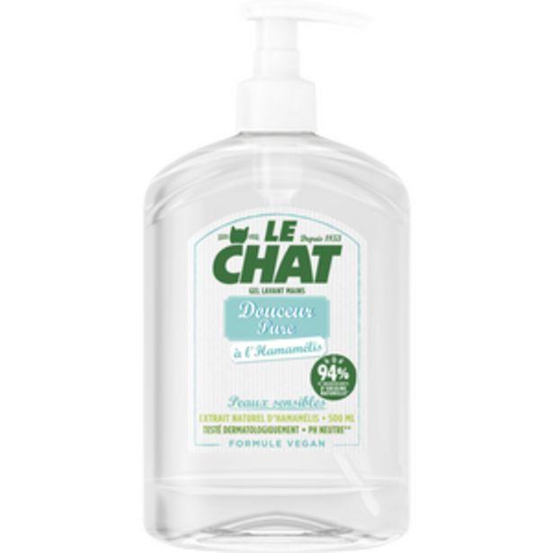 Gel lavant pour les mains LE CHAT douceur pure 500ml offre à 2,98€