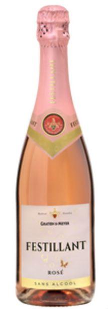 Vin rosé effervescent à base de vin désalcoolisé FESTILLANT, 75cl offre à 3,2€