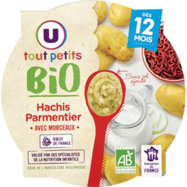 Assiette hachis parmentier Tout Petits Bio U, dès 12 mois, 230g offre à 1,53€