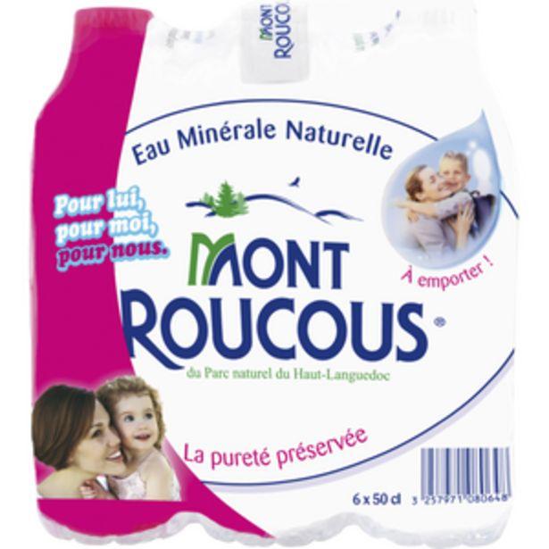 Eau minérale naturelle MONT ROUCOUS, 6x50cl offre à 2,15€