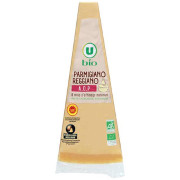 Pointe parmigiano reggiano lait cru 18 mois d'affinage AOP 30%MGU BIO 180g offre à 5,08€