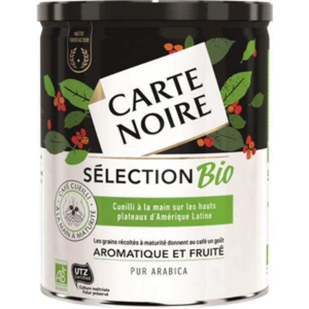 Café moulu bio tin box aromatique et fruité CARTE NOIRE SELECTION 250g offre à 2,81€