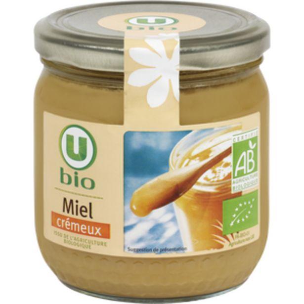 Miel crémeux U BIO, 500g offre à 4,52€