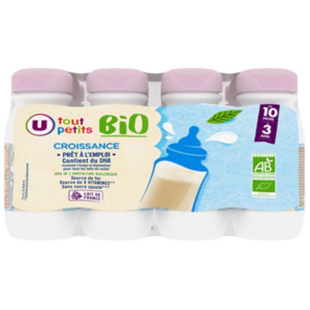 Croissance DHA 10 mois à 3 ans U TOUT PETITS BIO 12x25cl offre à 7,76€