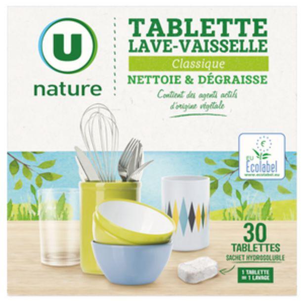 Tablettes lave-vaisselle classique U NATURE x30 offre à 4,31€