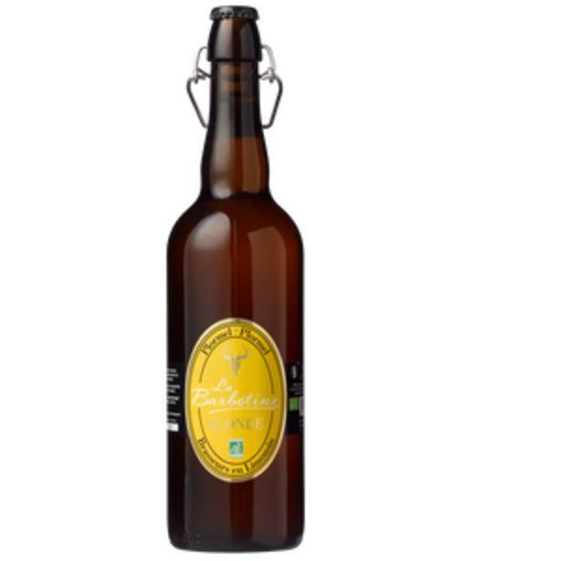 Bière blonde La Barbotine bio, 5,5°, bouteille de 75cl offre à 5,35€