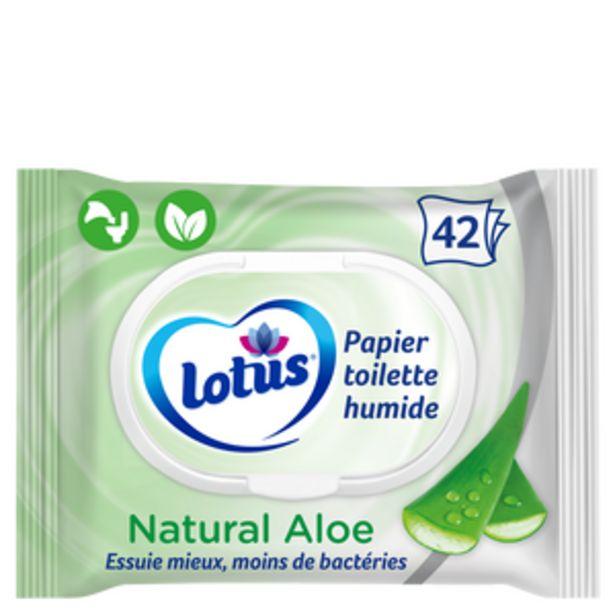 Papier toilette humide aloe douceur LOTUS, 42 lingettes offre à 1,86€