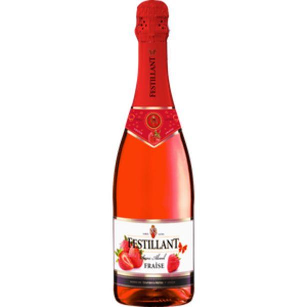 Vin fraise effervescent à base de vin désalcoolisé FESTILLANT, 75cl offre à 3,2€
