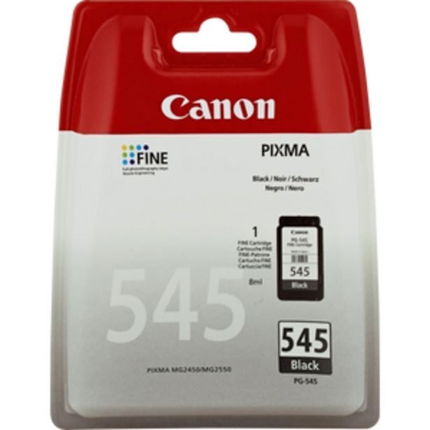 Cartouche d'encre CANON, PG545, noir offre à 16,99€