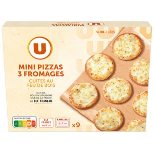 Mini pizza 3 fromages U, x9 soit 270g offre à 1,76€
